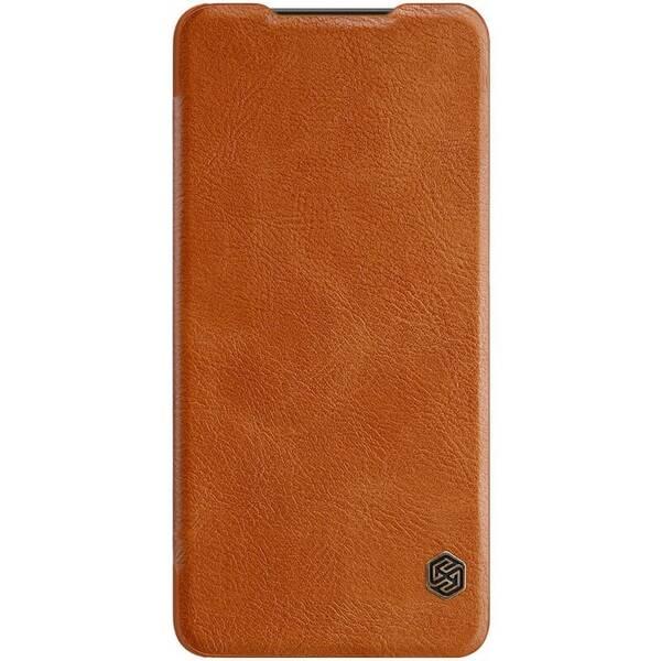 Pouzdro na mobil flipové Nillkin Qin Book na Samsung Galaxy A50 hnědé