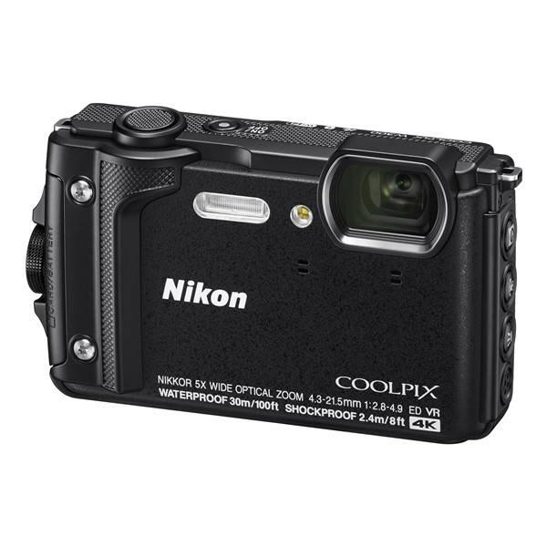 Digitálny fotoaparát Nikon Coolpix W300, Holiday Kit (VQA070K001) čierny