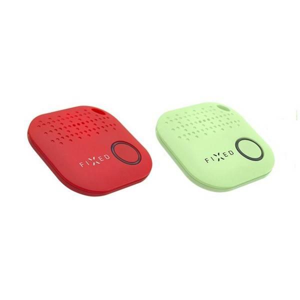 Klíčenka FIXED Smile hlídač osobních věcí DUO PACK, červená + zelená (FIXSM-SMILE-RDGN)