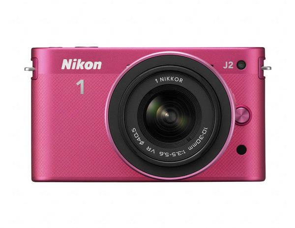 Digitální fotoaparát Nikon 1 J2 + 10-30 VR + 30-110 VR růžový