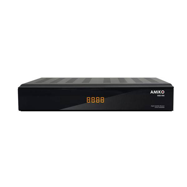 Satelitní přijímač Amiko SSD550 černý (vrácené zboží 8118034957)