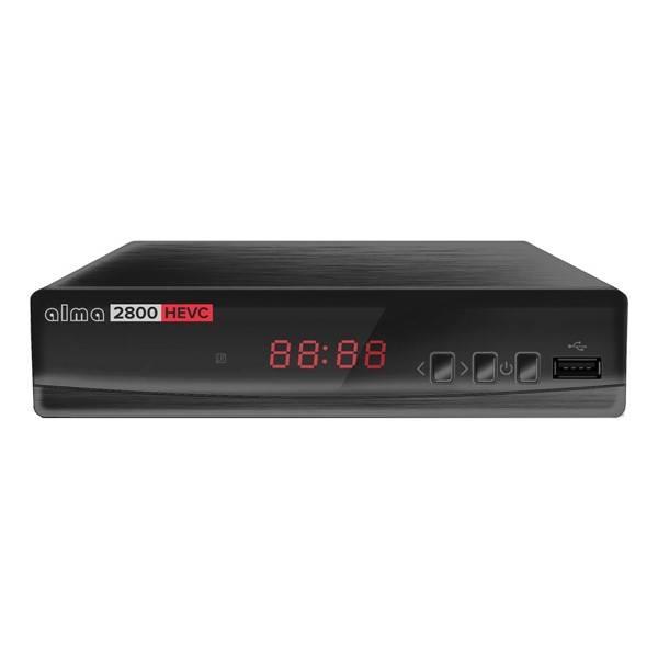 Set-top box ALMA 2800 s DVB-T2 s HEVC (H.265) černý (vrácené zboží 8800235673)