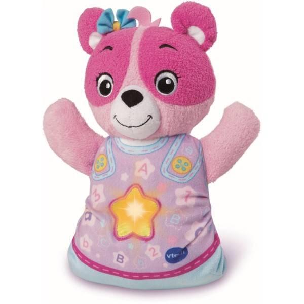 Usínáček Vtech Medvídek CZ - růžový