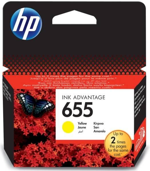 Inkoustová náplň HP No. 655, 600 stran - originální (CZ112AE) žlutá