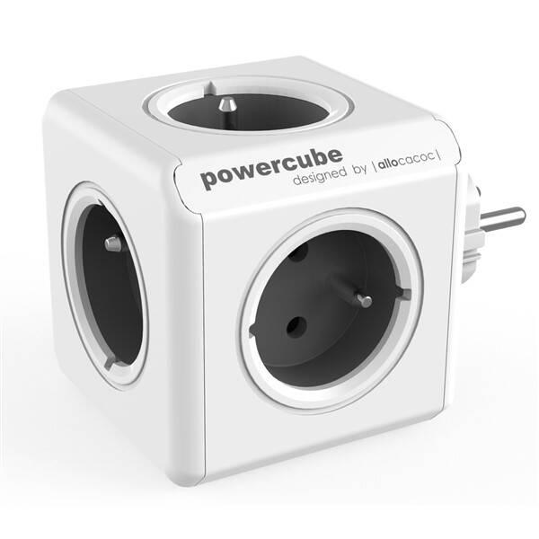 Zásuvka Powercube Original, 5x zásuvka šedá/bílá