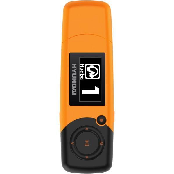 MP3 přehrávač Hyundai MP 366 GB8 FM O oranžový (vrácené zboží 8800324634)