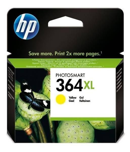 Cartridge HP No. 364XL, 750 stran - originální (CB325EE) žltá