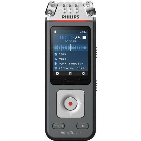 Diktafon Philips DVT6110 černý/stříbrný