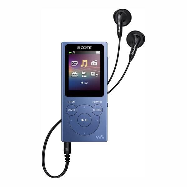 MP3 prehrávač Sony NW-E394L modrý