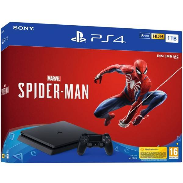 Herná konzola Sony PlayStation 4 1TB + hra Spider-Man (PS719733218) čierny