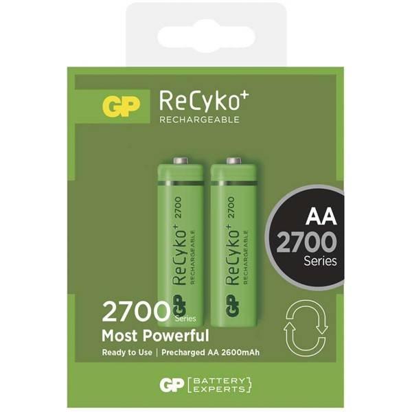 Baterie nabíjecí GP ReCyko+ AA, HR06, 2700mAh, Ni-MH, krabička 2ks (1032212130)