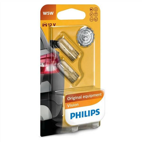 Autožárovka Philips Vision W5W, 2ks (12961B2)