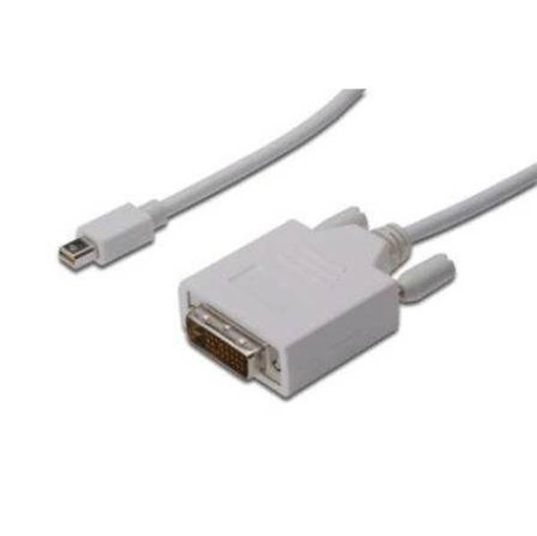 Kabel Digitus miniDisplayPort - DVI(24+1), 1m (AK-340305-010-W) bílý