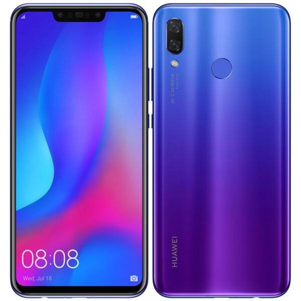 Mobilní telefon Huawei nova 3 (SP-NOVA3FOM) fialový