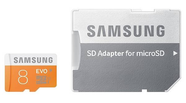 Pamäťová karta Samsung Micro SDHC EVO 8GB UHS-I U1 (48R/10W) + adapter (MB-MP08DA/EU)