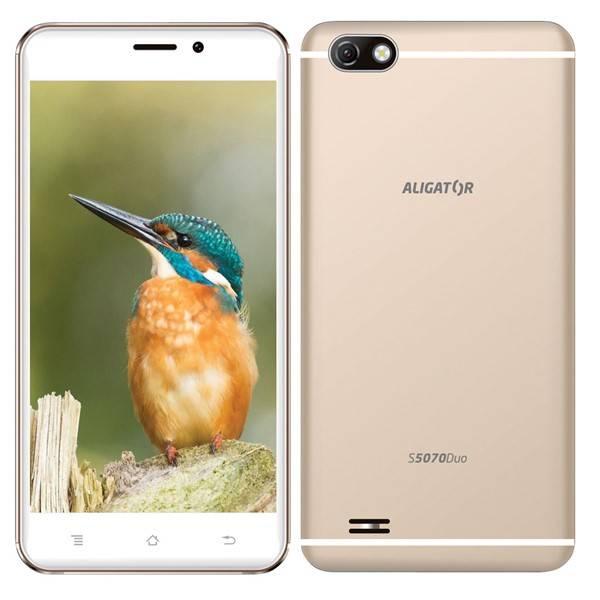 Mobilní telefon Aligator S5070 Dual SIM (AS5070GD) zlatý