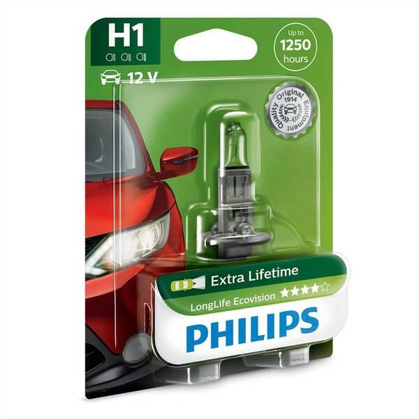 Autožiarovka Philips LongLife EcoVision H1, 1ks (12258LLECOB1)