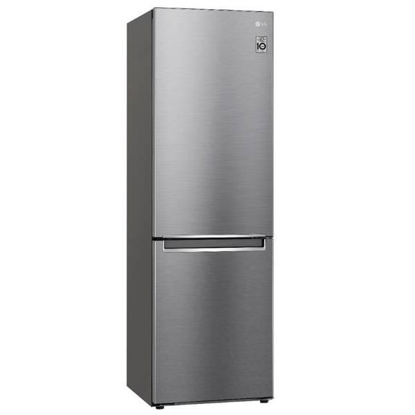 Kombinácia chladničky s mrazničkou LG GBB61PZGCN strieborná