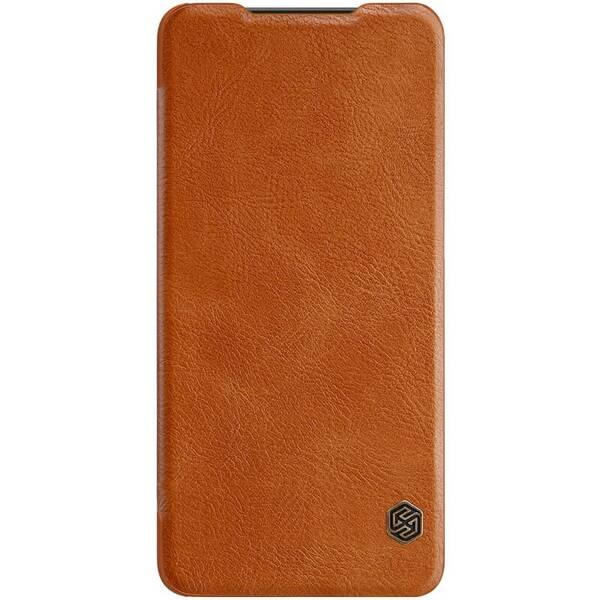 Pouzdro na mobil flipové Nillkin Qin Book na Xiaomi Mi 9 Lite hnědé