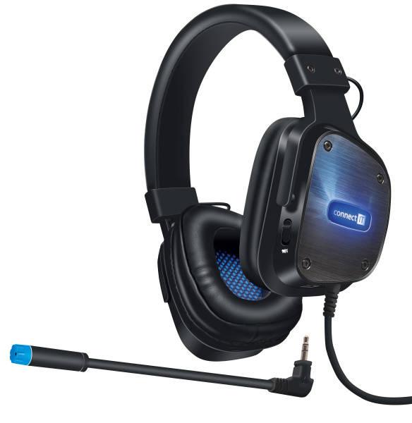 Headset Connect IT Evogear (CHP-4500-BK) černý