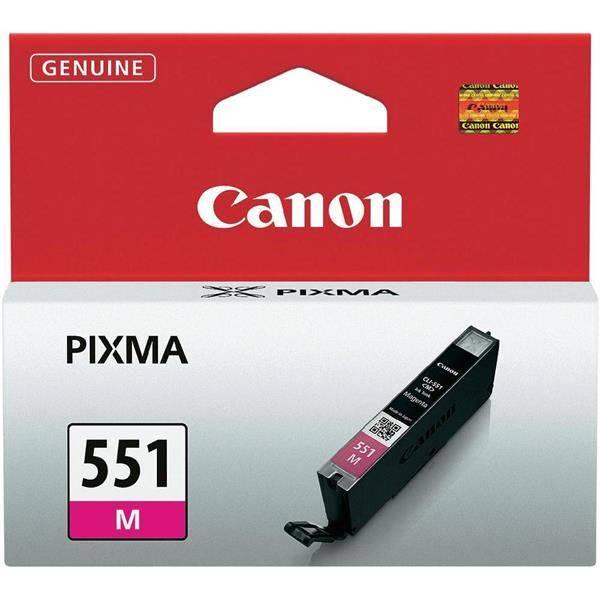 Inkoustová náplň Canon CLI-551 M, 298 stran - originální (6510B001) červená