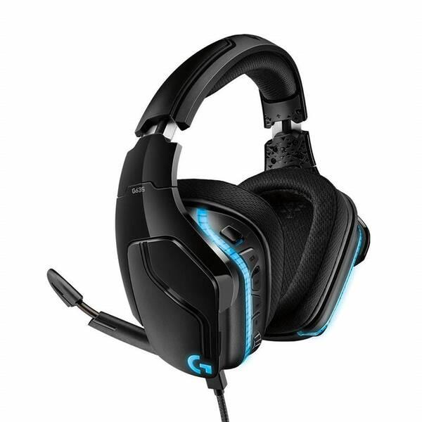 Headset Logitech Gaming G635 7.1 Surround Lightsync (981-000750) černý (vrácené zboží 8800652398)