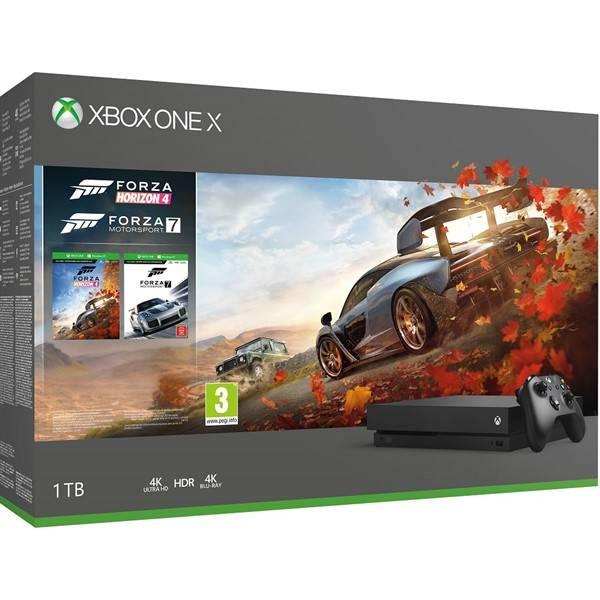 Herní konzole Microsoft Xbox One X 1 TB + Forza Horizon 4 + Forza Motorsport 7 (CYV-00057)