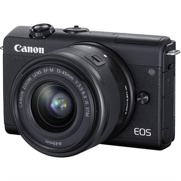 Digitální fotoaparát Canon EOS M200 + EF-M 15-45 IS STM (3699C010) černý