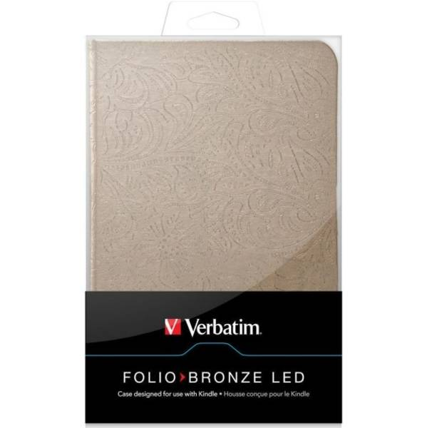 Púzdro na tablet Verbatim Folio Bronze LED pro Kindle (98081)
