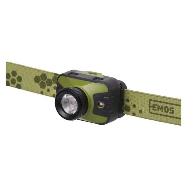 Čelovka EMOS CREE LED P3539, 330 lm, 200 m, 3× AAA (1441341100)
