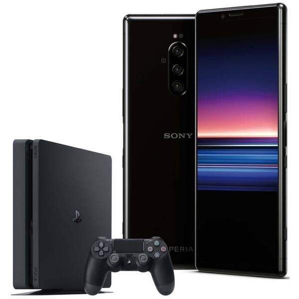 Mobilní telefon Sony Xperia 1 černá a Herní konzole Sony PlayStation 4 Fortnite (SON000012)