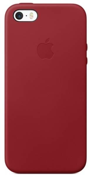 Kryt na mobil Apple Leather Case pro iPhone 5/5s/SE (PRODUCT)RED (MR622ZM/A) červený