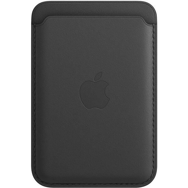 Kožená peňaženka Apple s MagSafe k iPhonu - čierna (MHLR3ZM/A)