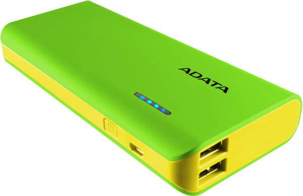Powerbank ADATA PT100 10000mAh (APT100-10000M-5V-CGRYL) žlutá/zelená