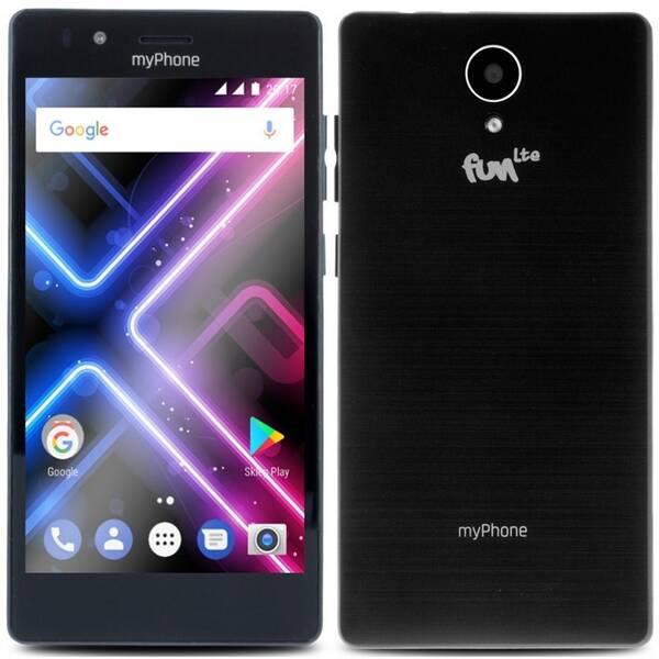 Mobilní telefon myPhone FUN LTE Dual SIM (TELMYAFUNLTEBK) černý (rozbalené zboží 8800293289)