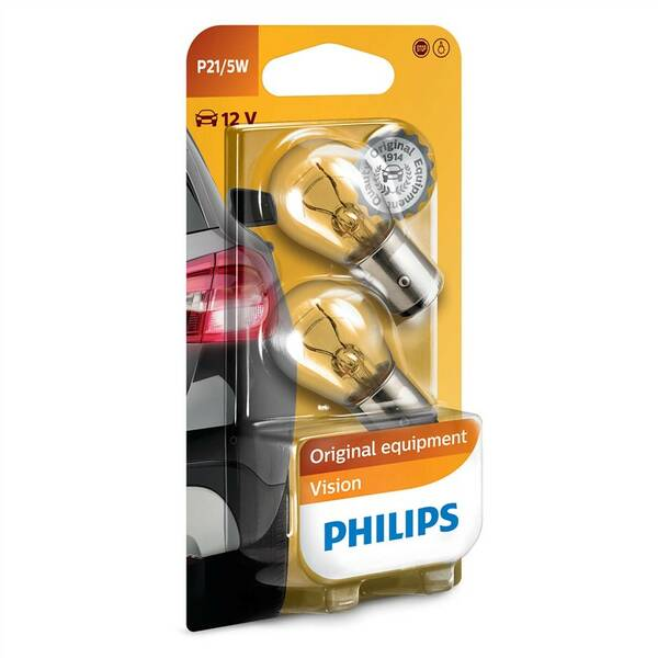 Autožiarovka Philips Vision P21/5W, 2ks (12499B2)
