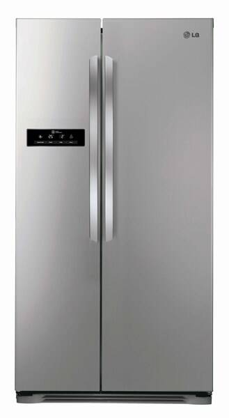 Chladnička s mrazničkou LG GSB325PVQV stříbrná