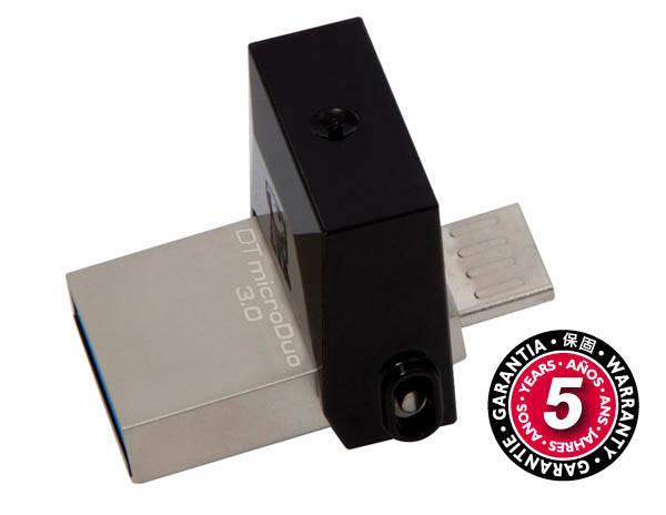 USB Flash Kingston DataTraveler Micro Duo 3.0 64GB OTG MicroUSB/USB 3.0 (DTDUO3/64GB) černý