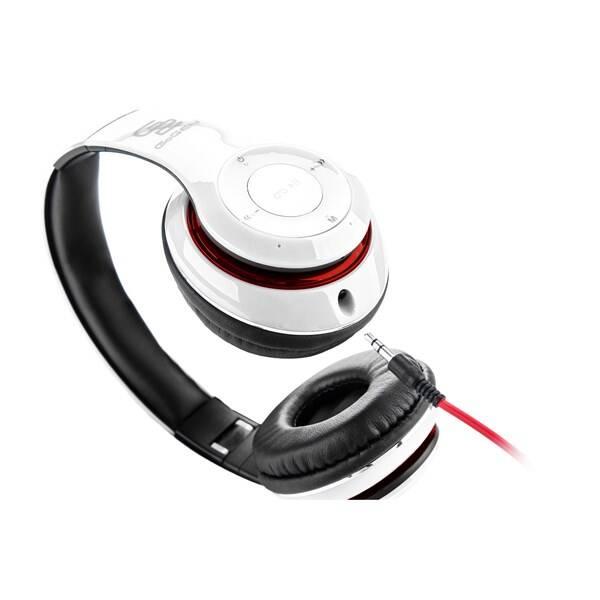 Sluchátka GoGEN HBTM 41WR (HBTM 41WR ) bílá/červená (Náhradní obal / Silně deformovaný obal 2300030027)