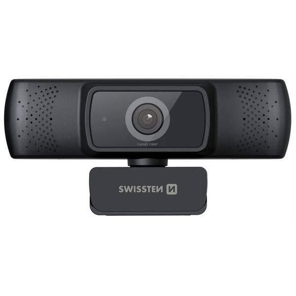 Webkamera Swissten Webcam FHD 1080P (55000001) čierna