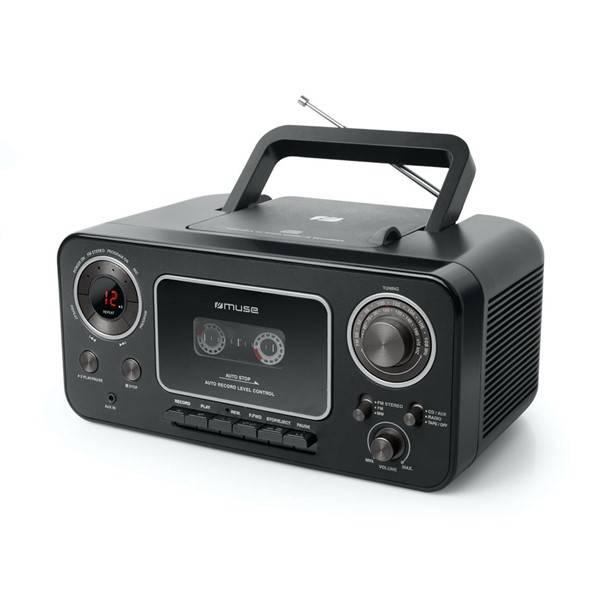 Radiomagnetofon s CD MUSE M-182RDC (M-182RDC) černý