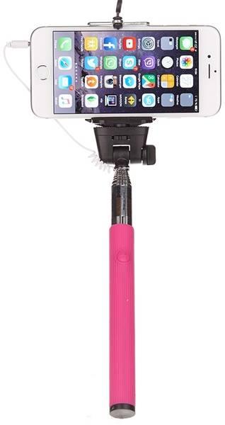 Selfie tyč OEM univerzální, tmavě růžová (375067) (vrácené zboží 8800474701)