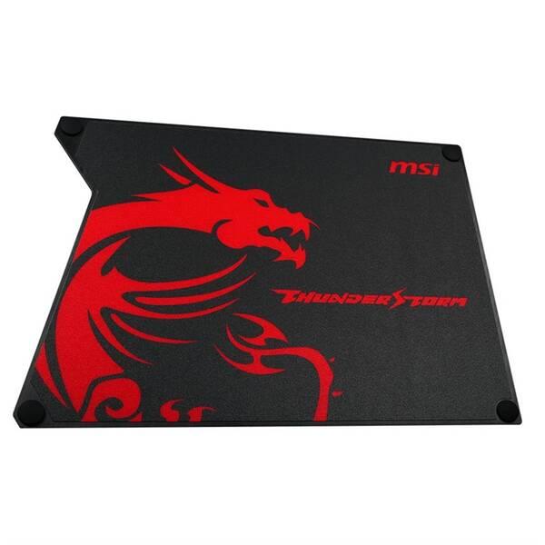 Podložka pod myš MSI GAMING Thunderstorm Aluminium, 32 x 22,5 cm (GF9-V000001-EB9) čierna/červená