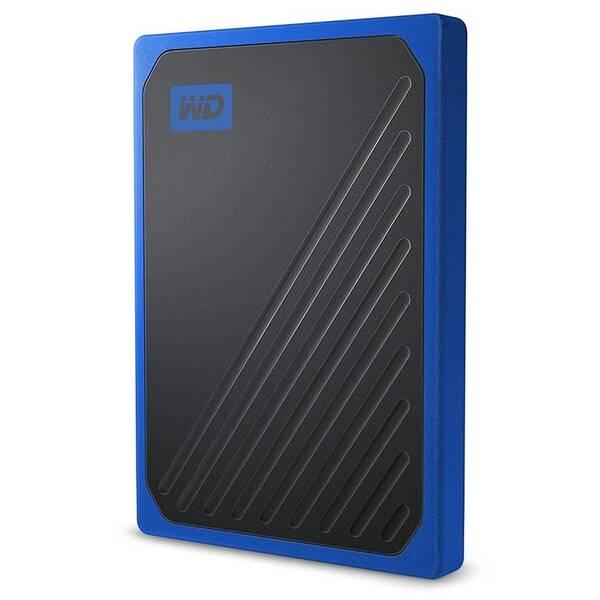 SSD externý Western Digital My Passport Go 512GB (WDBMCG5000ABT-WESN) modrý
