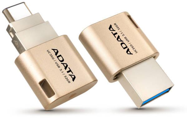 USB Flash ADATA UC350 32GB OTG USB-C/USB 3.1 (AUC350-32G-CGD) zlatý