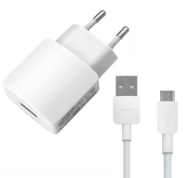 Nabíječka do sítě Huawei HW-050200E01W + micro USB kabel, 2A (bulk) (429937) bílá