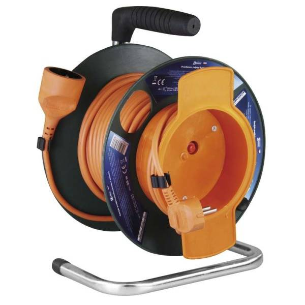 Kabel prodlužovací na bubne EMOS 1x zásuvka, 25m (1908012501) oranžový
