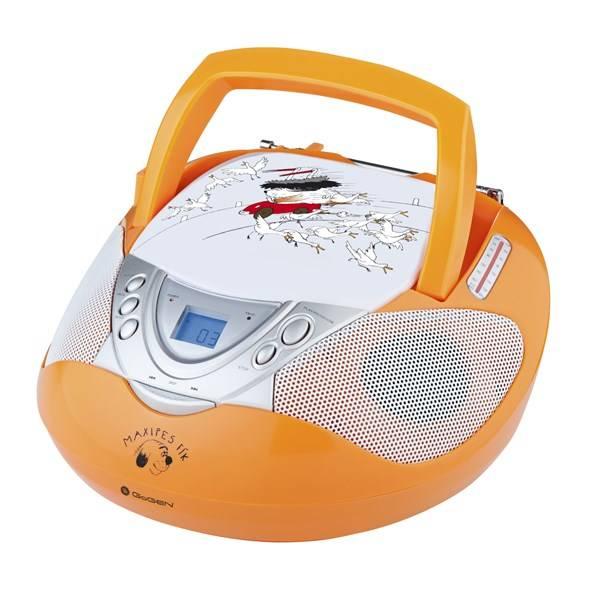 Radiopřijímač s CD GoGEN Maxipes Fík MAXI RADIO O oranžový (vrácené zboží 8800305340)