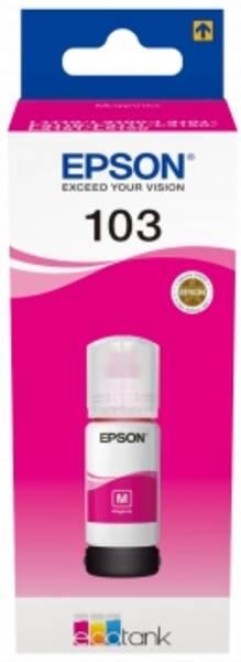 Inkoustová náplň Epson EcoTank 103, 65 ml (C13T00S34A) červená