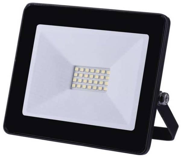 LED reflektor EMOS HOBBY SLIM, 20W, neutrální bílá, 1600lm (1531221021) černý